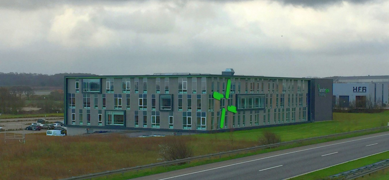 EUD A/S har stået for projektudvikling og opførelse i et byggeprojekt for Dangaard Telecom, der ønskede et nyt af et domicil. Det opførte kontorbyggeri ligger ved Aabenraa.